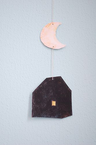 house and moon