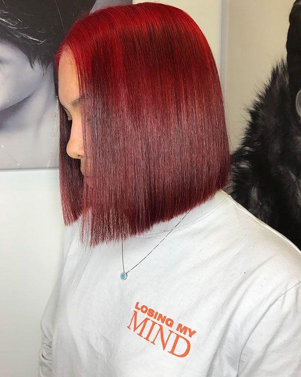 50 Short Haircuts For Black Women In 2020 Short Red Hair Hair Styles Red Bob Hair