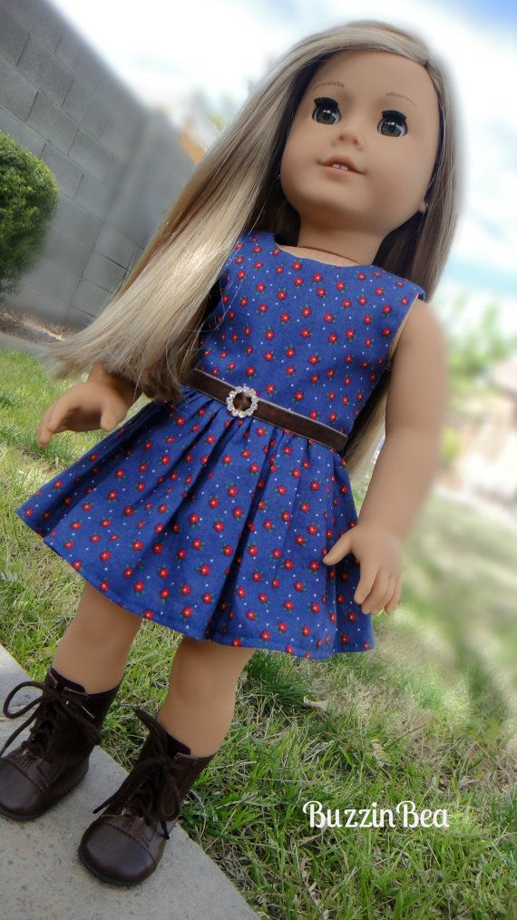 Navy Blue Dress With Red Floral Prints Buzzin Bea My