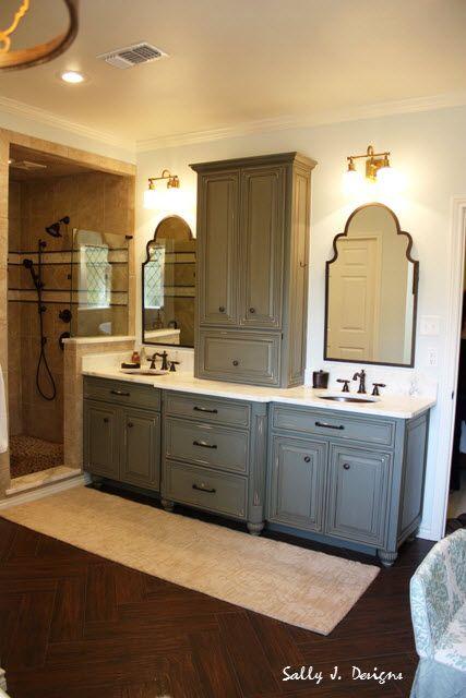 Rustic elegant bathroom, sink view