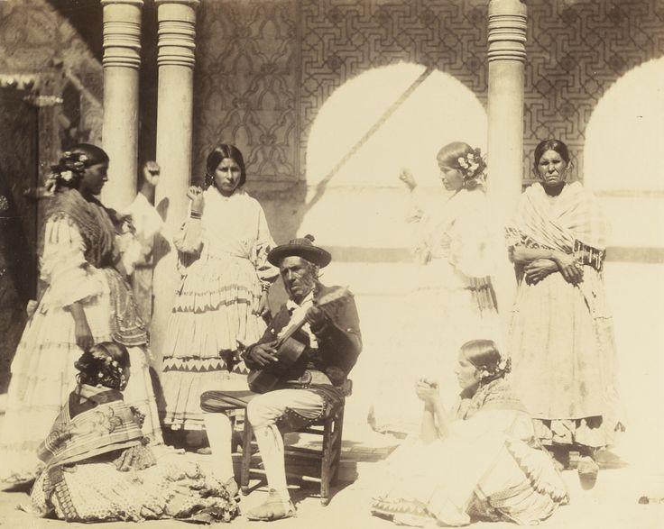 Charles Clifford - Gypsy dancing, Granada, Alhambra, 1862