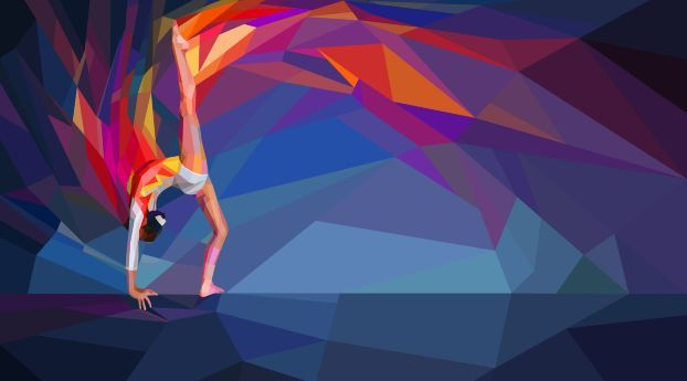 Gymnastics Low Poly Painting Wallpaper Hd Abstract 4k Wallpapers Images Photos And Background Desktop Wallpaper Art Abstract Art Wallpaper