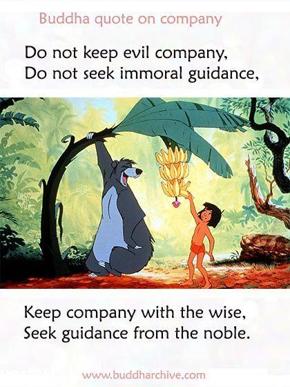 Buddha quote on company