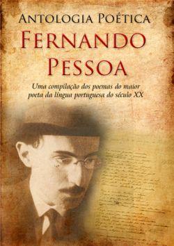 """Capa do livro """"Antologia Poética"""" de Fernando Pessoa."""