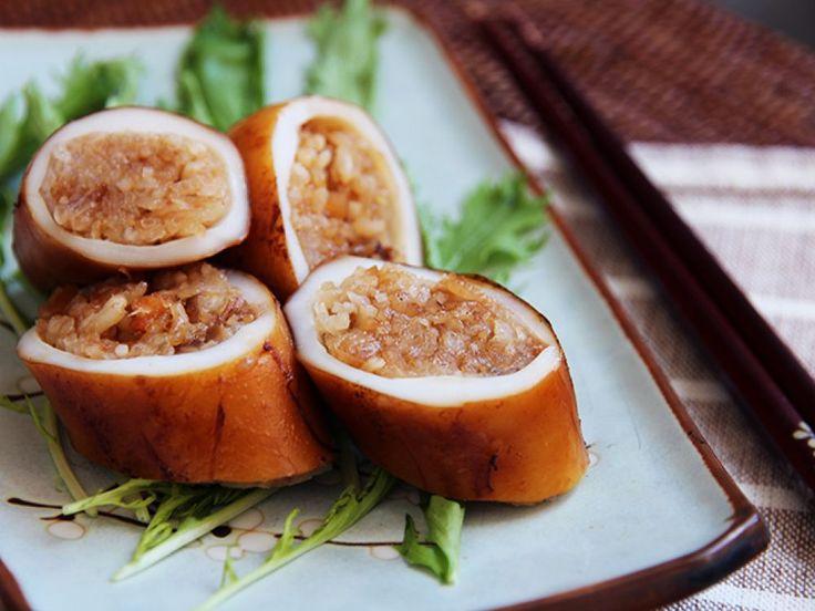 Calamari farciti con riso, pinoli e uvetta, la ricetta | Fantasie di cucina