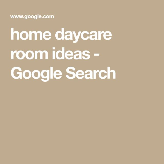 home daycare room ideas - Google Search