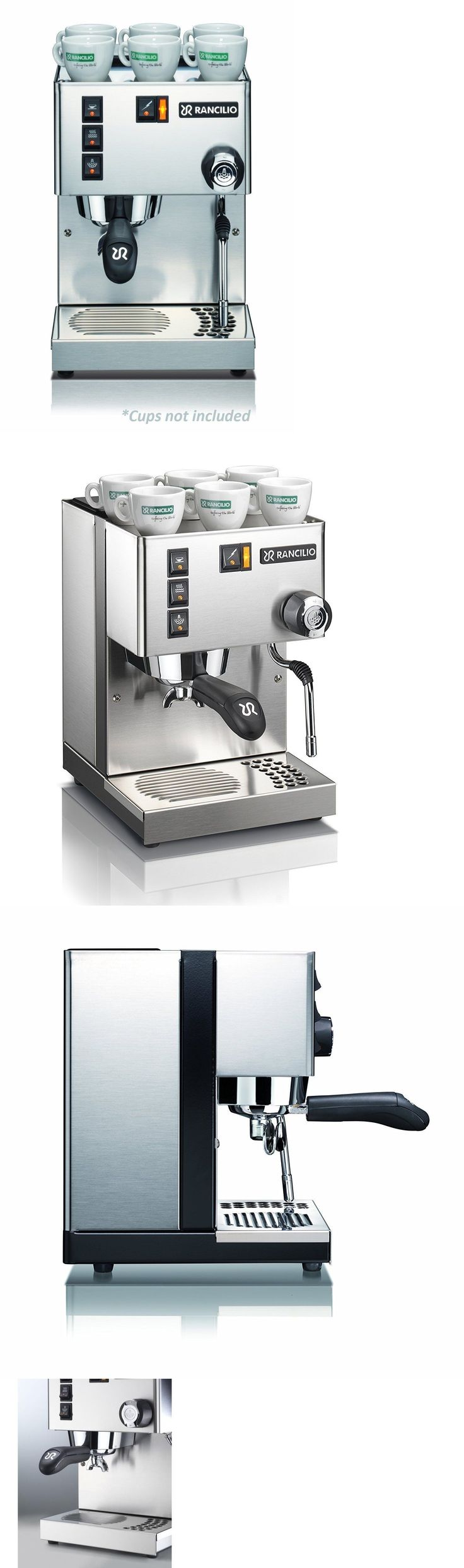 Small Kitchen Appliances: Rancilio Silvia M V5 Espresso Machine **New** Stainless Steel, Authorized Seller -> BUY IT NOW ONLY: $685 on eBay!