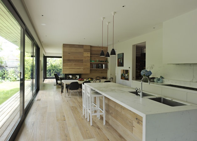 Love these floors, and particularly like the way the same timber is used on the front of the kitchen cabinetry.