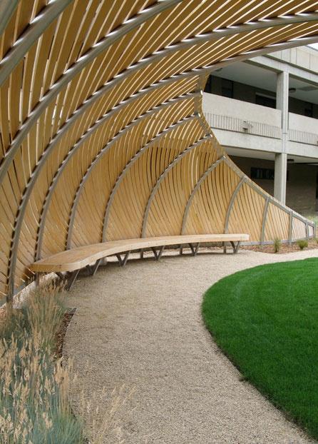 the bench in 'Reach' by Lorna Jordan, Seattle