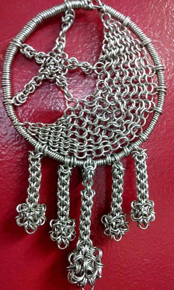 Stainless Steel Chain Maille Dream Catcher