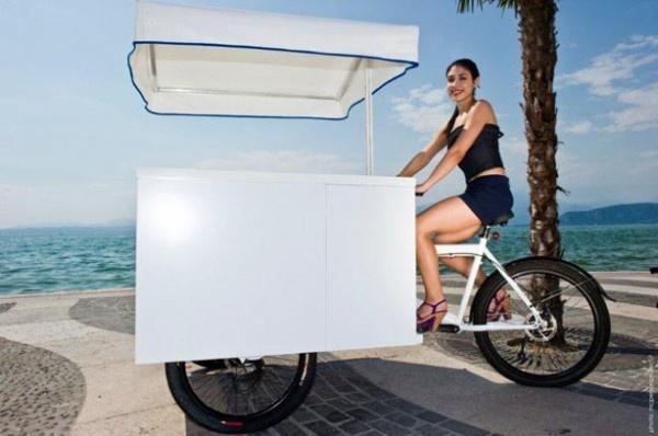 Italy Cargo Bike: il carretto dei gelati si veste di nuova bellezza e funzionalità con la tecno-superficie DuPont™ Corian®