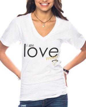 Peace Love World Ladiesmi Heat I Am Love V Neck Price