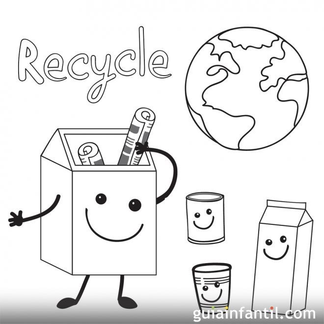 Recycle Earth Day Coloring Pages Craft Activities For Kids Recycling