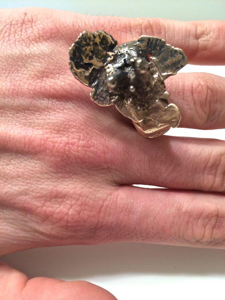 Matthew Fainor - Rose Bronze Flower Ring