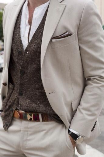 Light Gray Suit, Wool Vest