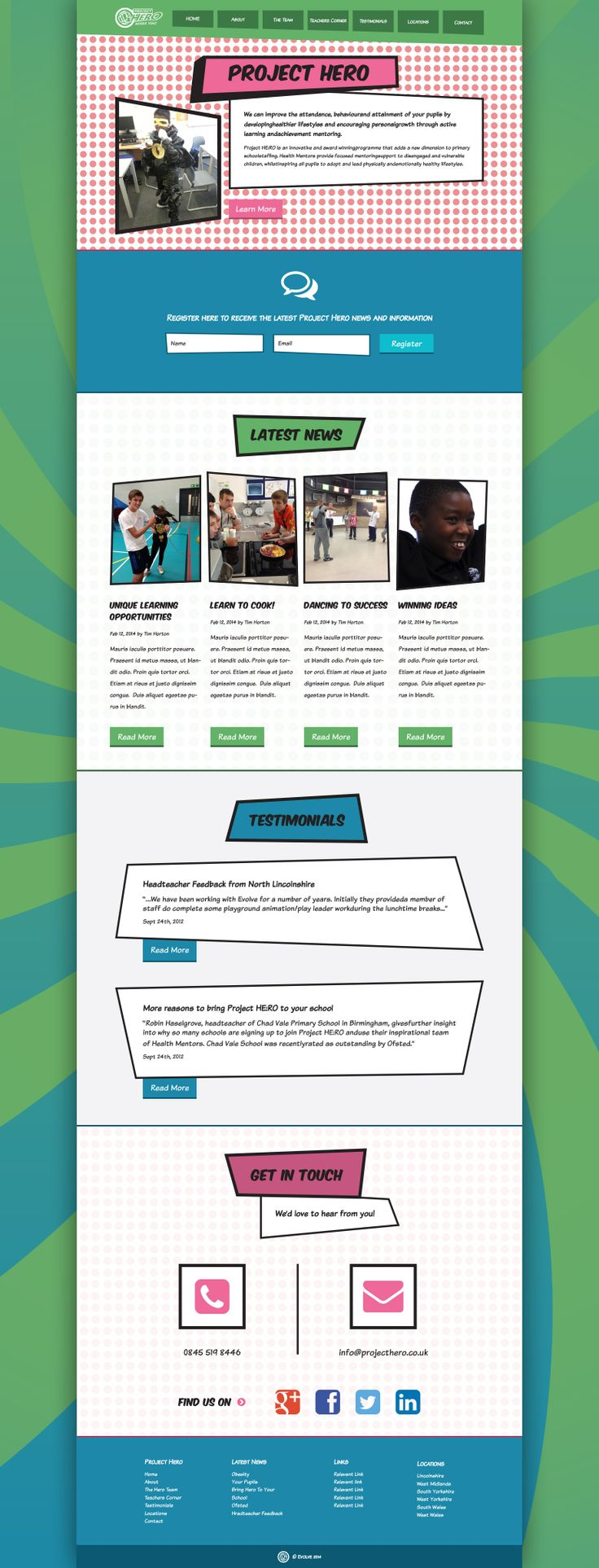 Project Hero #Charity #WebDesign by #YellowDNA