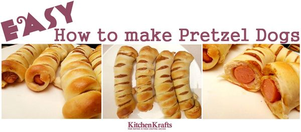 How to make pretzel dogs! | Recipes to try | Pinterest