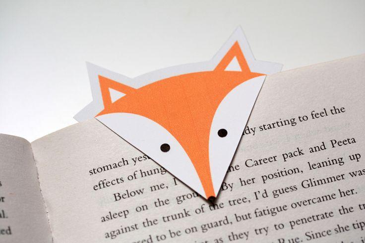 Marque-page renard à imprimer et à faire soi-même