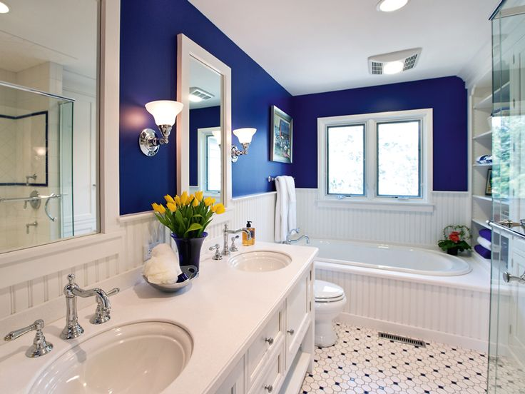 Find This Pin And More On Color Bathroom Blue Bathroom Ideas