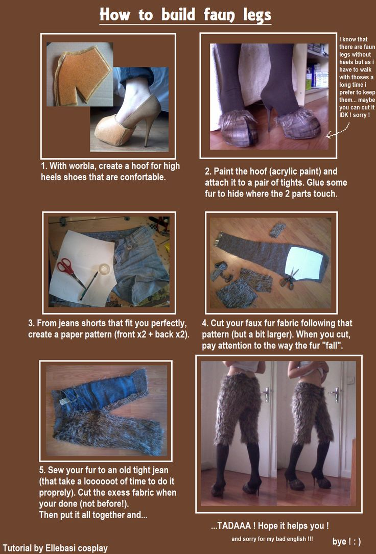 How to build faun legs. by Tamyes-ellebasi goat humanoid anthro female high heels cosplay costume LARP LRP resource tool how to tutorial instructions   Create your own roleplaying game material w/ RPG Bard: www.rpgbard.com   Writing inspiration for Dungeons and Dragons DND D&D Pathfinder PFRPG Warhammer 40k Star Wars Shadowrun Call of Cthulhu Lord of the Rings LoTR + d20 fantasy science fiction scifi horror design   Not Trusty Sword art: click artwork for source