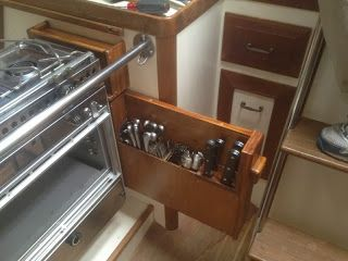 Lots of good galley ideas on the Small Boat Projects Blog http://smallboatprojects.blogspot.com/search/label/galley