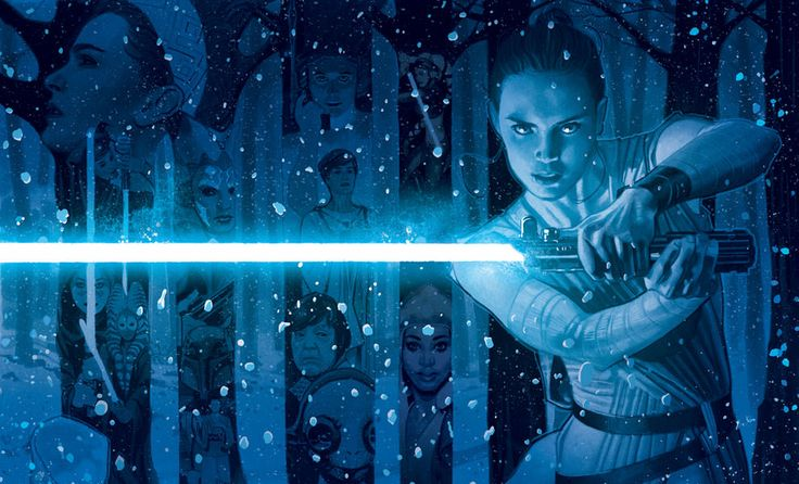 The In a Galaxy Far, Far Away Art Print by ACME is available at Sideshow.com for fans of Star Wars, Rey, Princess Leia, and the women of Star Wars.