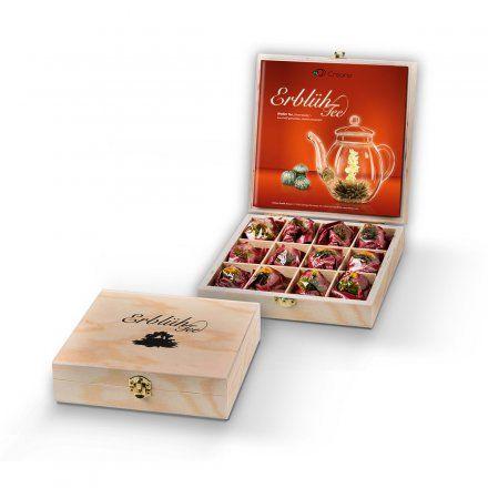 Creano Erblüh-Tee 12er-Set Weißer Tee in Holz-Präsentbox online kaufen ➜ Bestellen Sie Erblüh-Tee 12er-Set Weißer Tee in Holz-Präsentbox für nur 24,95€ im design3000.de Online Shop - versandkostenfreie Lieferung ab €!