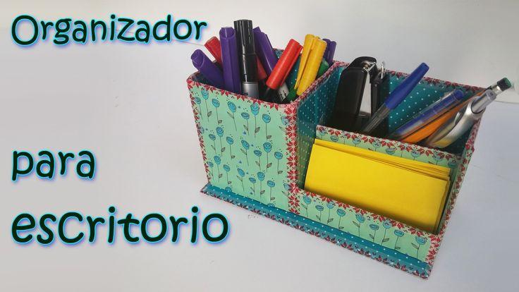 Manualidades organizador para escritorio manualidades para todos reciclado pinterest - Organizadores escritorio ...