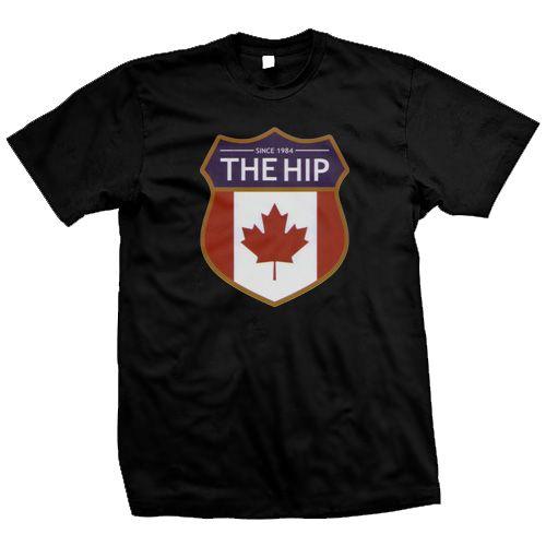 The Tragically Hip - Black Crest T-Shirt