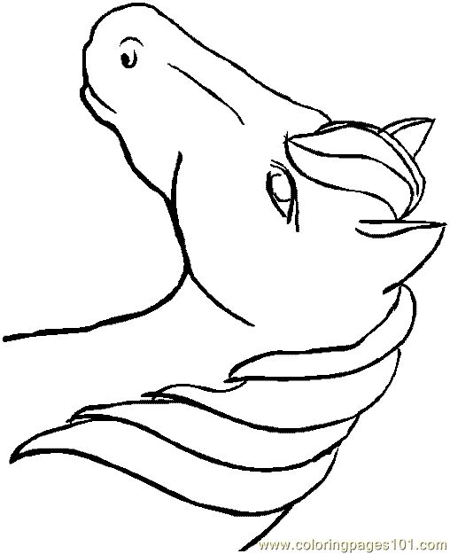 free printable coloring image Horse Coloring Page 0001 (31)