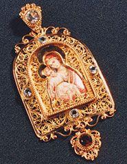 панагия, панагии, панагия купить, золотые панагии, панагия из золота, филигрань иконы