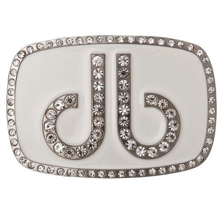 DB Diamond White Buckle by Druh Belts.  Buy it @ ReadyGolf.com