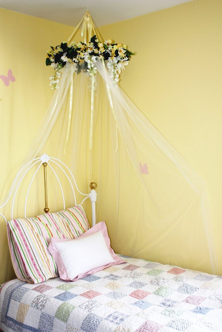 Girls bed canopy ideas - Diy Over The Bed Canopy Google Search