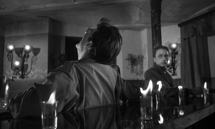 "shot from Andrzej Wajda's ""Ashes and Diamonds"" - 1958"