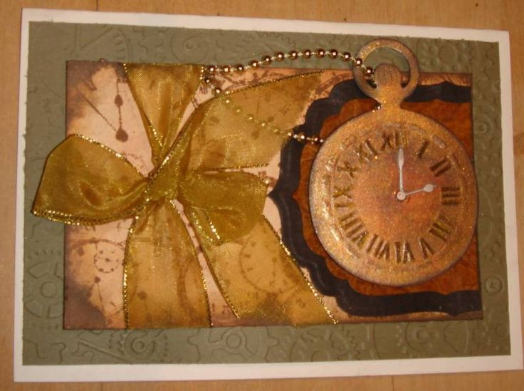 Spellbinders Pocket watch card by charlie horse - Cards and Paper Crafts at Splitcoaststampers
