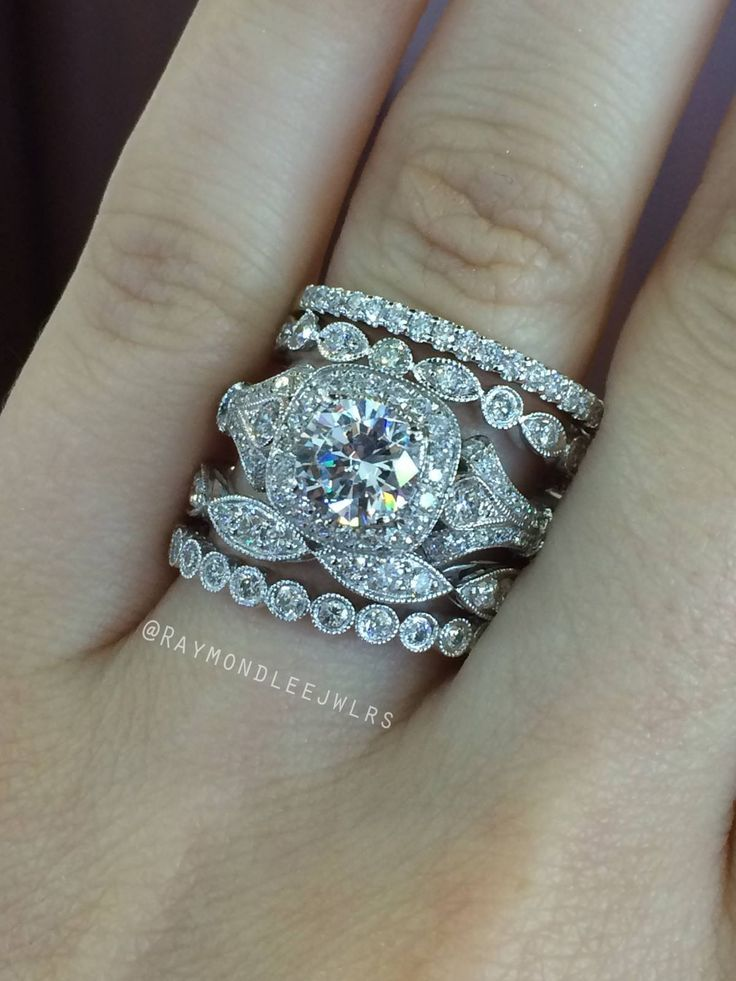 best 25 stacked engagement ring ideas on pinterest stackable bands wedding band sets and gold wedding rings