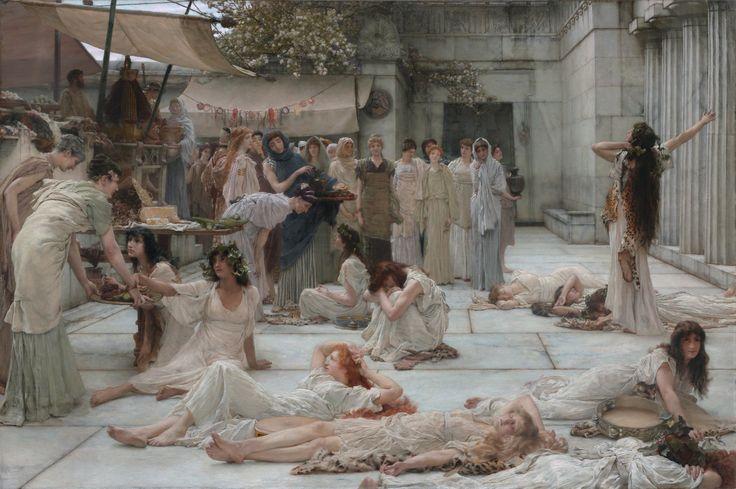 """The Women of Amphissa"" (1887) by Sir Lawrence Alma-Tadema"