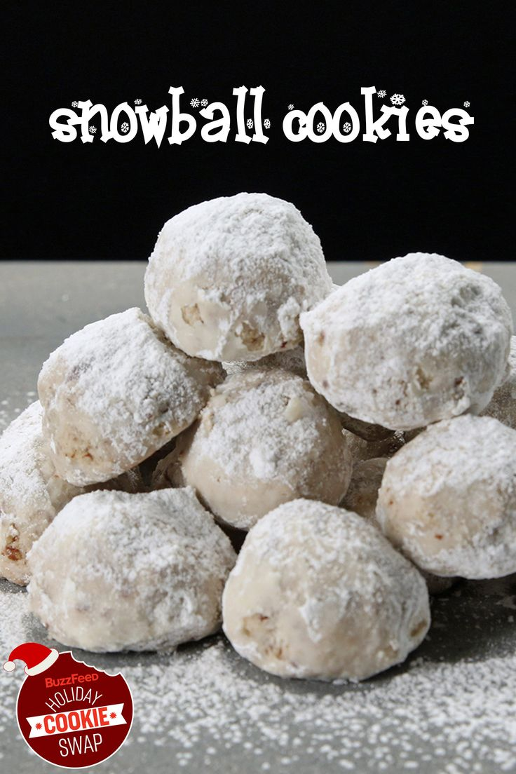 Snowball Cookies With Pecans   BuzzFeed Holiday Cookie Swap
