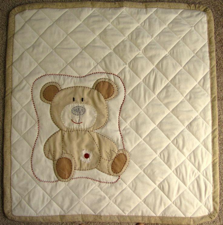 Baby Crib Quilt Brown Teddy Bear Snail Vs Spice