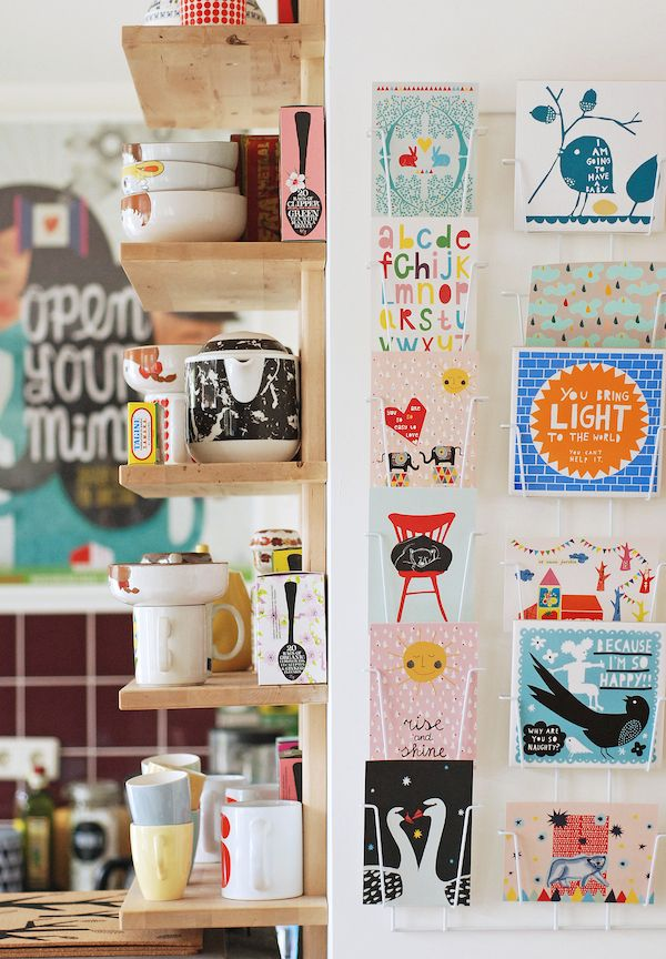 The happy home of a Dutch illustrator and ceramicist Nina Van de Goor.