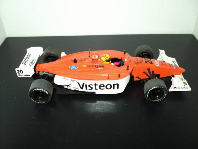 SCX Champ Car Visteon -This SCX slot car is a great looking and performing model from the Champ Car World Series. All SCX open wheel cars feature working steering as well as great performance and, as delicate as they look, they are surprisingly durable. http://theslotracer.com/store/products/dsc04740/#