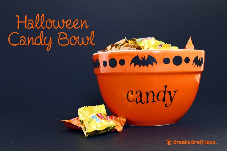 Create.Craft.Love.: Halloween Candy Bowl-- next color me mine project