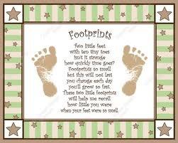 Footprints craft poem