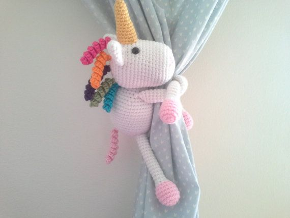 Hey, I found this really awesome Etsy listing at https://www.etsy.com/listing/239310883/unicorn-curtain-tie-back-crochet-unicorn