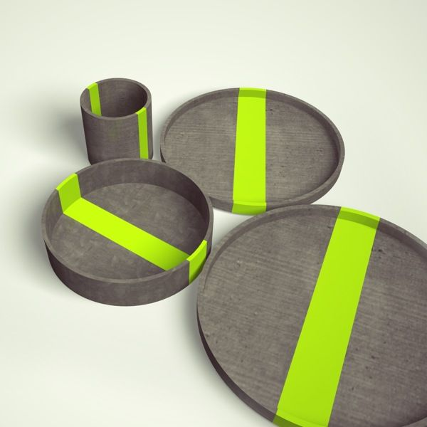 Diploma project - Concrete tableware! on Behance