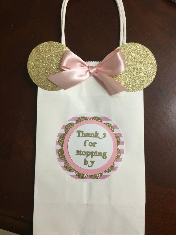 Bolsas de favor de ratón de Minnie de rosa por CreationsByChrissyCo
