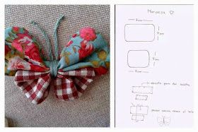 ARTESANATO COM QUIANE - Paps,Moldes,E.V.A,Feltro,Costuras,Fofuchas 3D: molde borboleta de fuxico