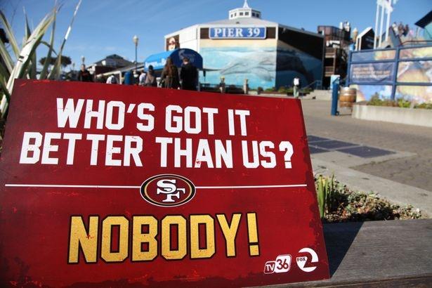 49er pride in San Francisco, Pier 39