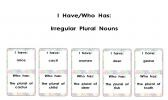 I Have/Who Has for Irregular Plural Nouns product from KawaiiClassroom on TeachersNotebook.com