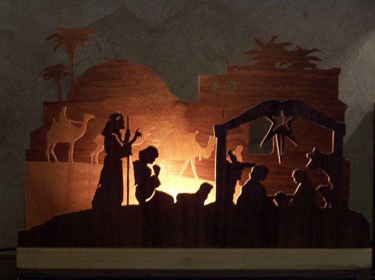 nativity scene silhouette | Penrose Mornings: Blood Family Blog: NATIVITY NIGHT LIGHT
